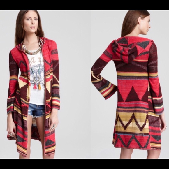 Free People Hooded Knit Duster size Small